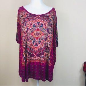 Lucky Brand Mandala Short Sleeve T-Shirt 3X